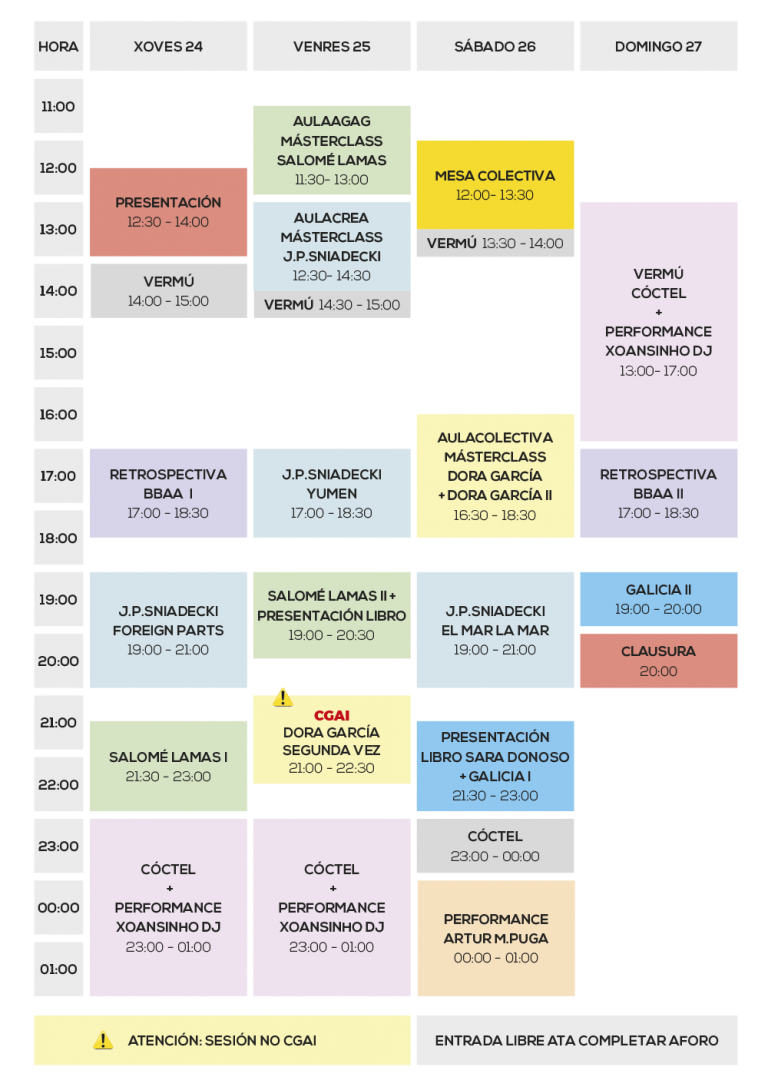 Horario INTERSECCION 2019